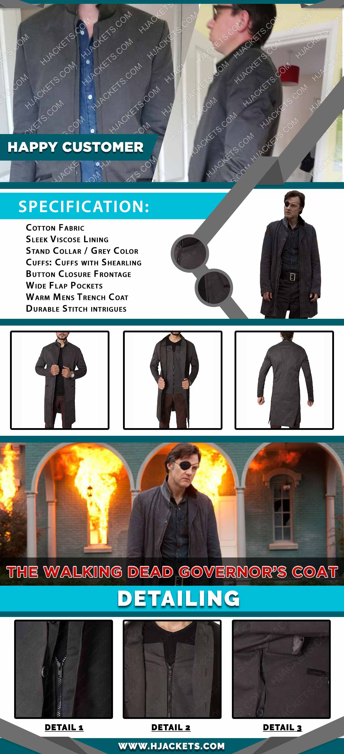 David Morrissey Coat Infographic