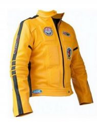 Kill Bill The Bride yelllow Leather Jacket