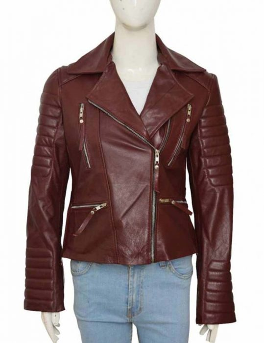 brooklyn-nine-nine-rosa-diaz-maroon-leather-jacket