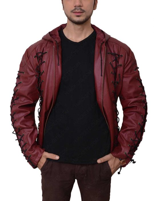 colton haynes leather jacket