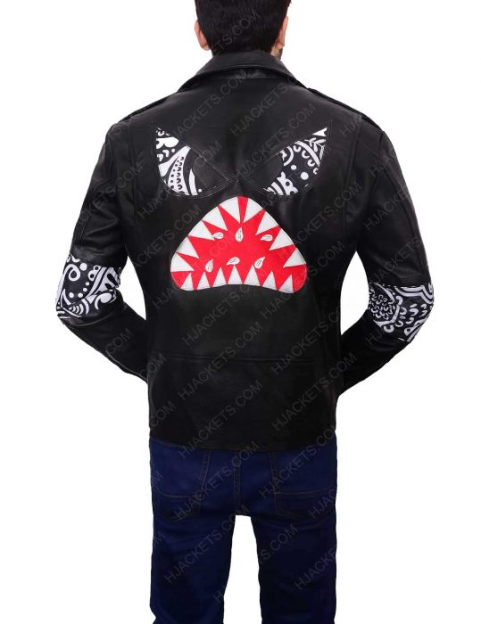 daft punk instant crush shark leather jacket
