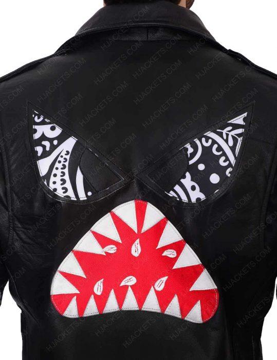 instant crush shark daft punk leather jacket