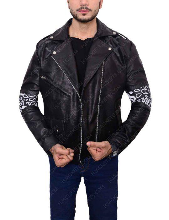 instant crush shark leather jacket
