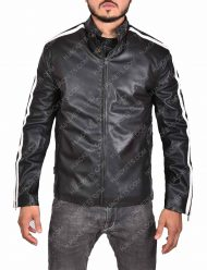 martin riggs lethal weapon black leather jacket