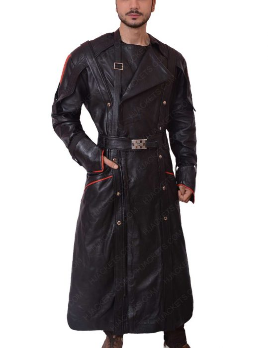 red skull leather coat