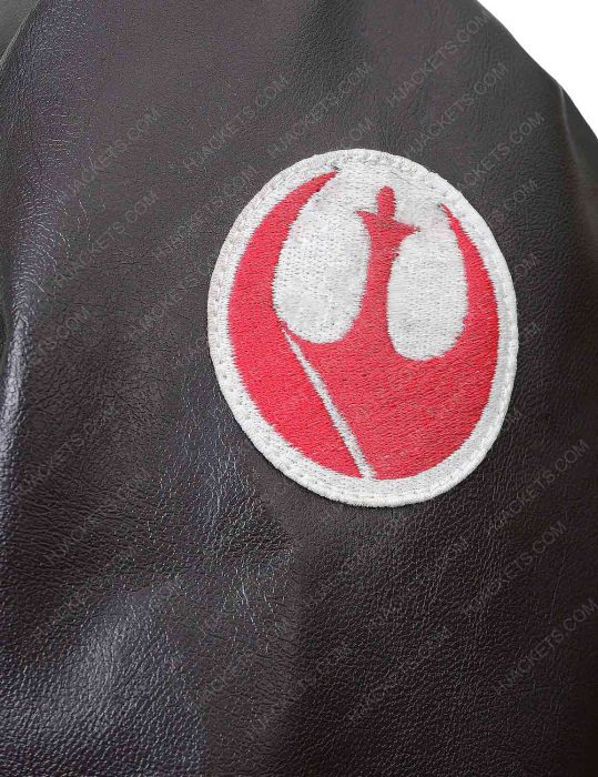 poe dameron brown leather jacket