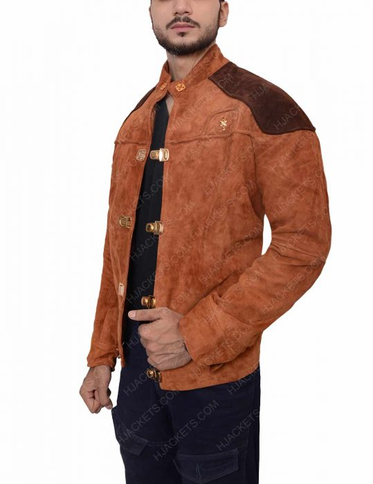 Warrior Brown Suede Jacket
