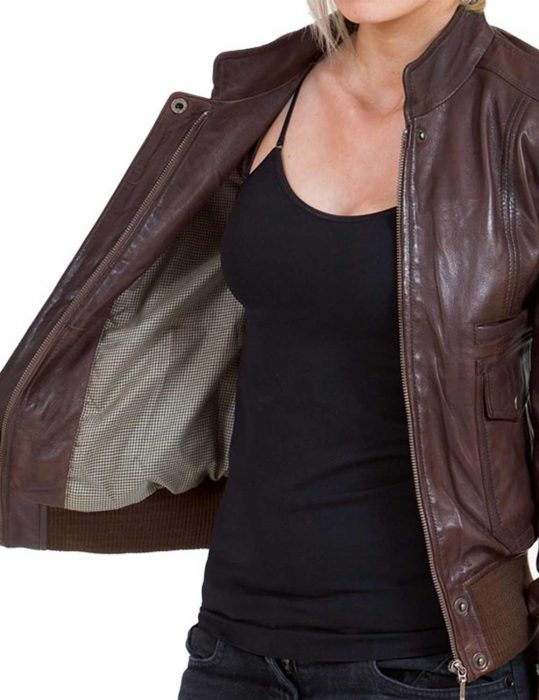 Glossy Brown Jacket