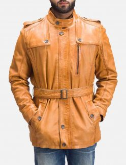 tan brown fur leather jacket
