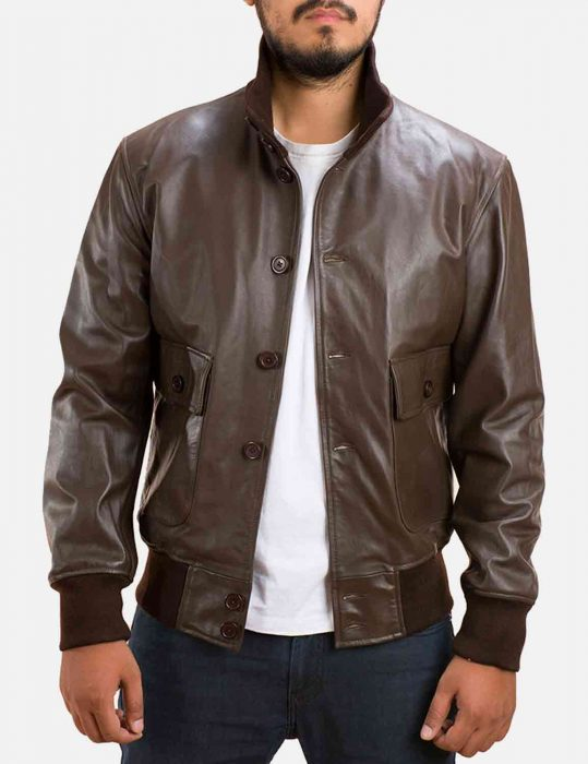 columbus brown bomber jacket