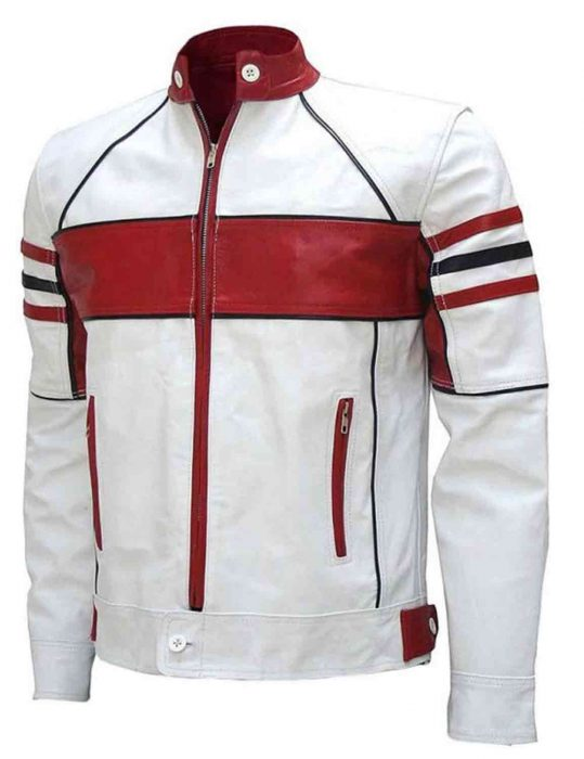 motorcycle white leather jacket