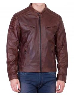 motorcycle brown jacket