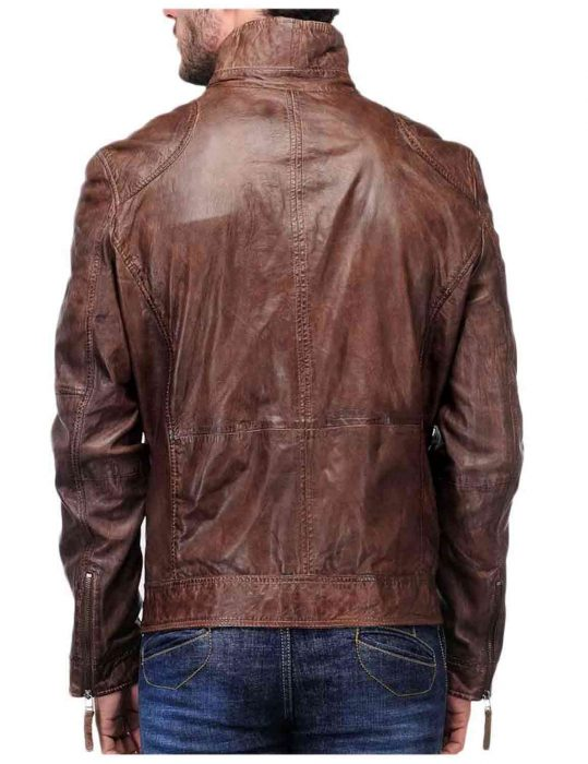 coffee brown leather jacket