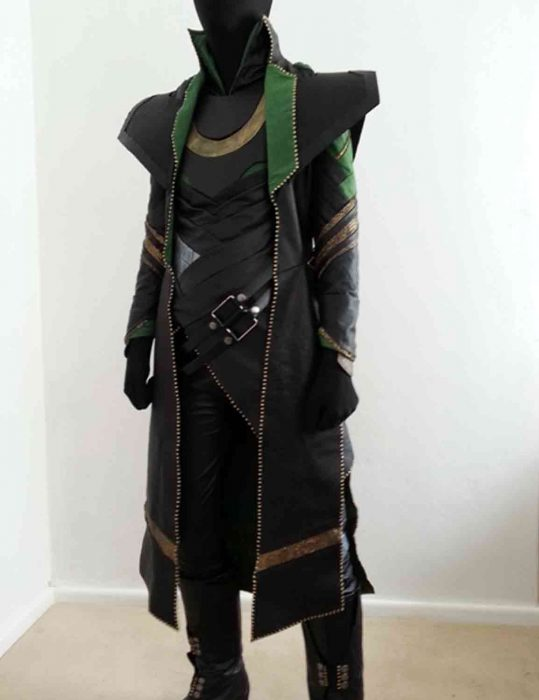 the avengers loki leather coat