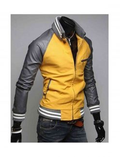 slim fit mustard yellow jacket