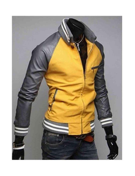 slim fit mustard yellow jacket