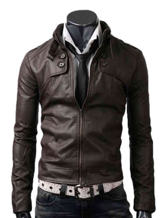 dark brown slim jacket