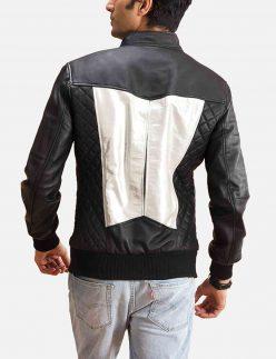 spade silver bomber jacket