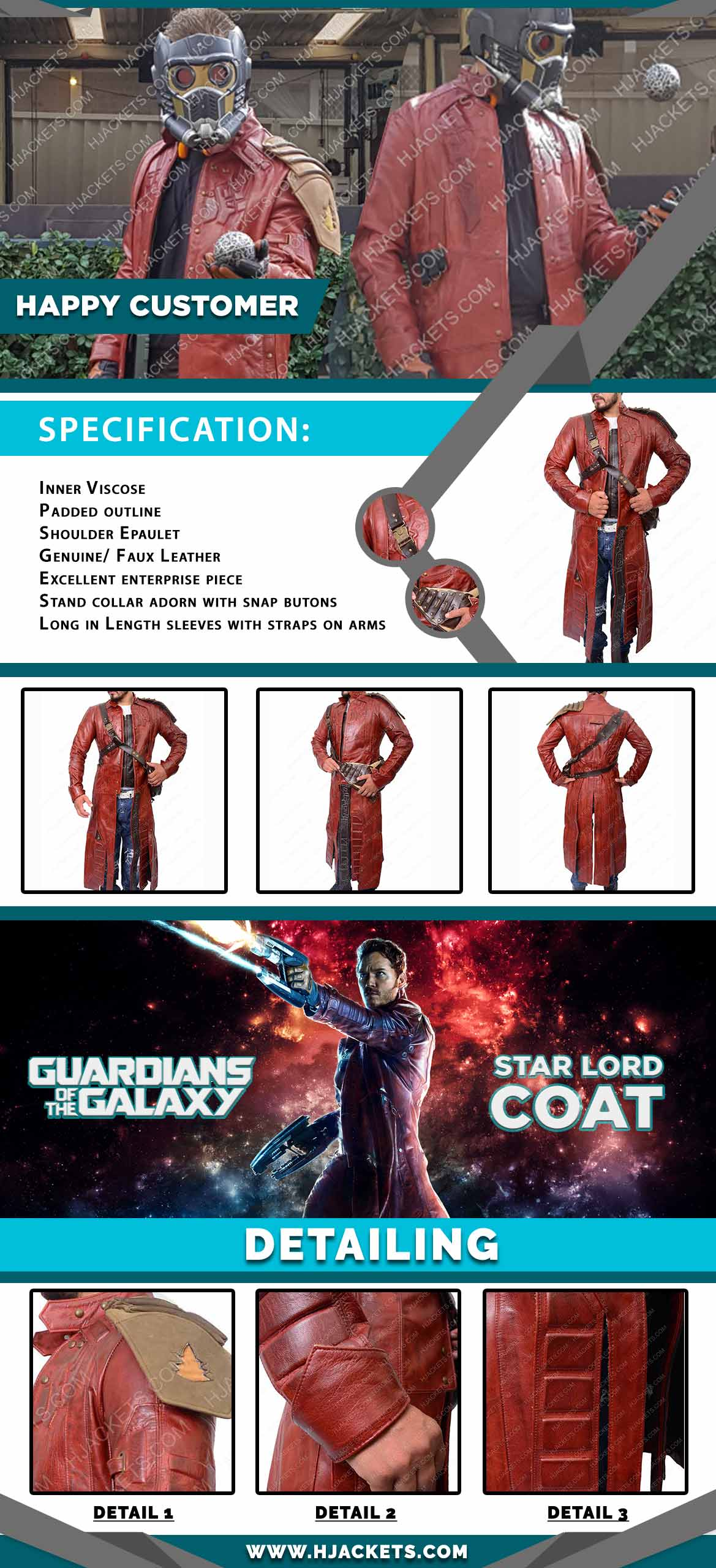 Guardians of the Galaxy Coat Info