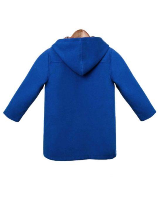 Paddington Bear Blue Wool Toggle Trench Coat