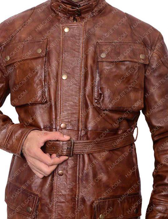 brad pitt benjamin leather jacket
