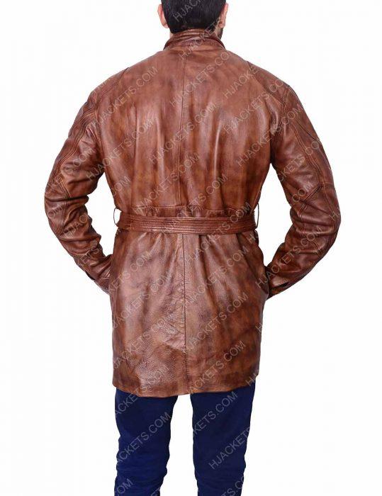 brad pitt leather jacket
