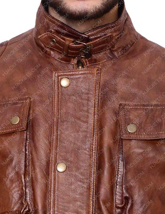 brad pitt motor cycle leather jacket