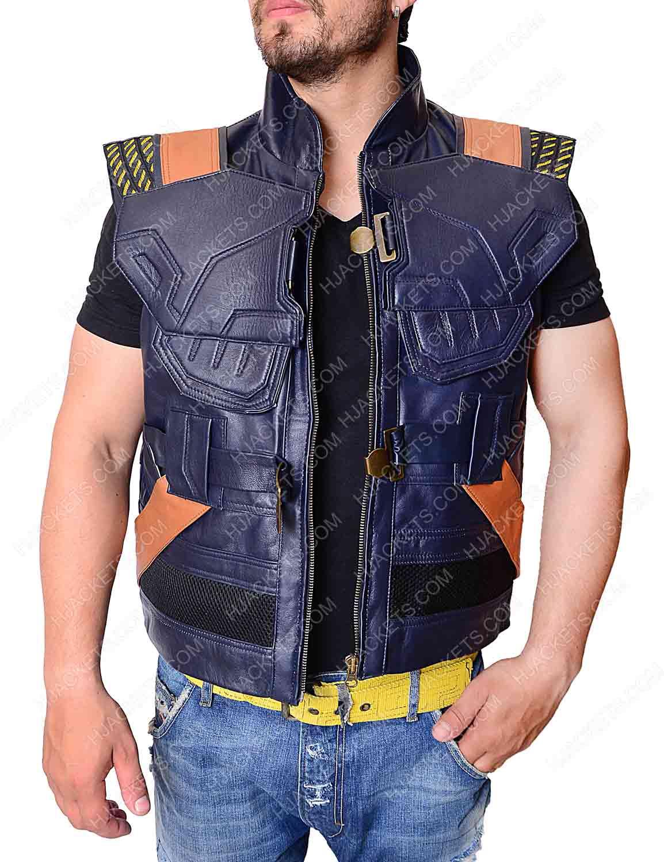 ac08e71a70f7a2 erik killmonger leather vest. black panther michael ...