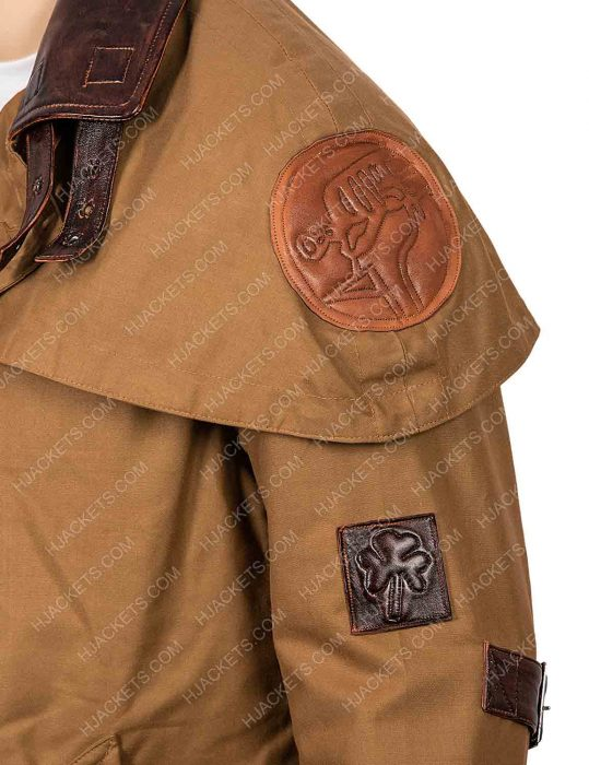 Hellboy The Golden Army Brown Leather Coat