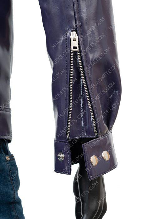 Men's Purple Leather Jacket