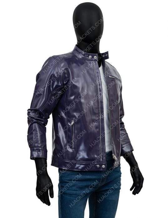 Men's Purple Motorcycle Jacket