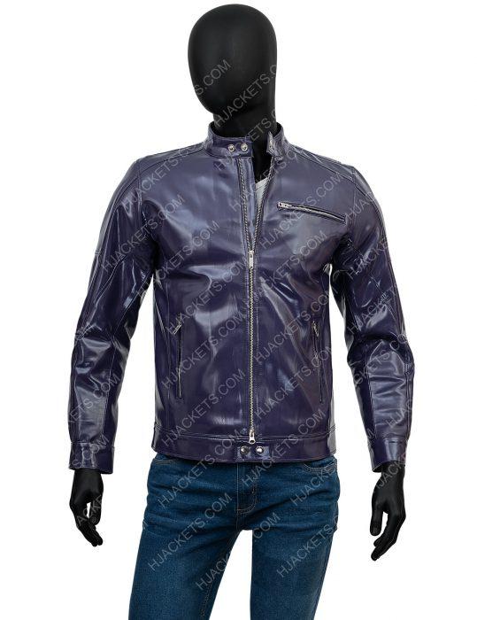 Purple Casual Jacket