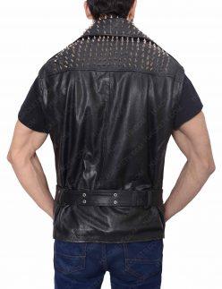 belted studded vest