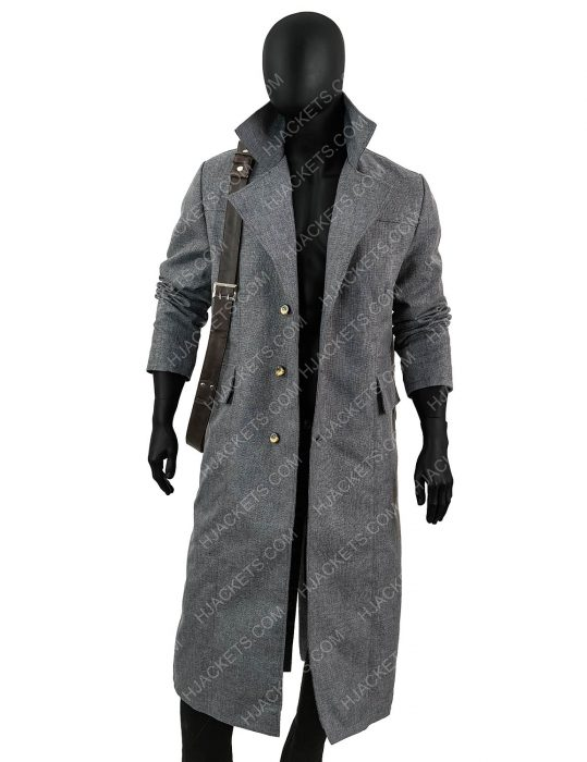 hunter bloodborne collar grey coat