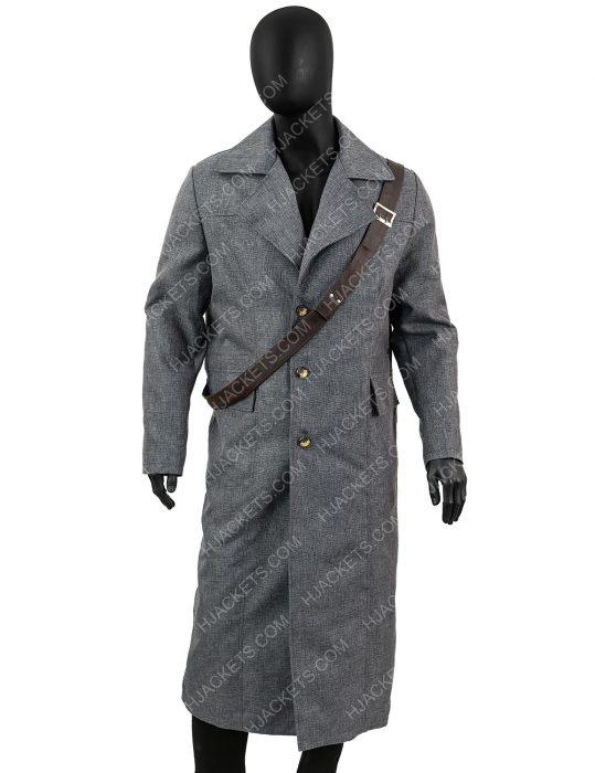 hunter bloodborne trench grey coat