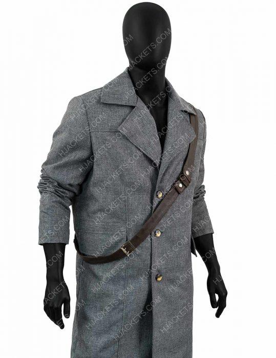 hunter bloodborne videogame grey coat