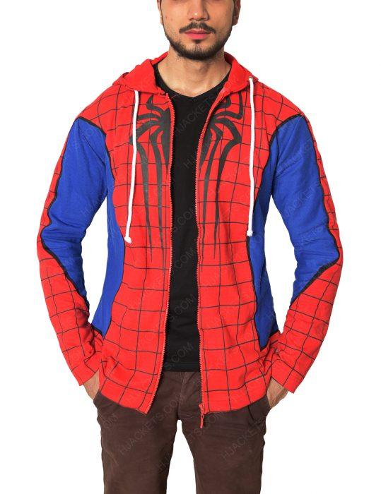 spider-man ps4 cotton hoodie