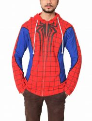 spiderman ps4 cotton blue hoodie
