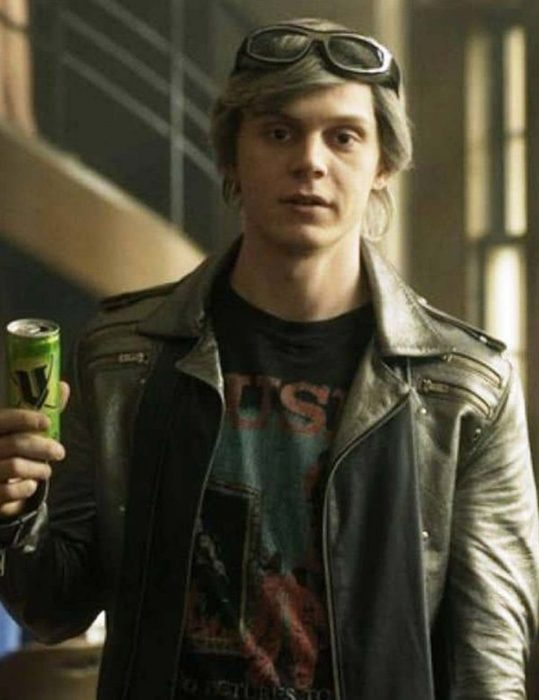 x-men apocalypse quicksilver leather silver jacket