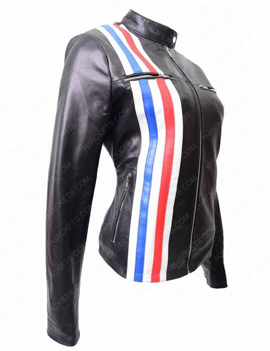 tiger future man leather jacket