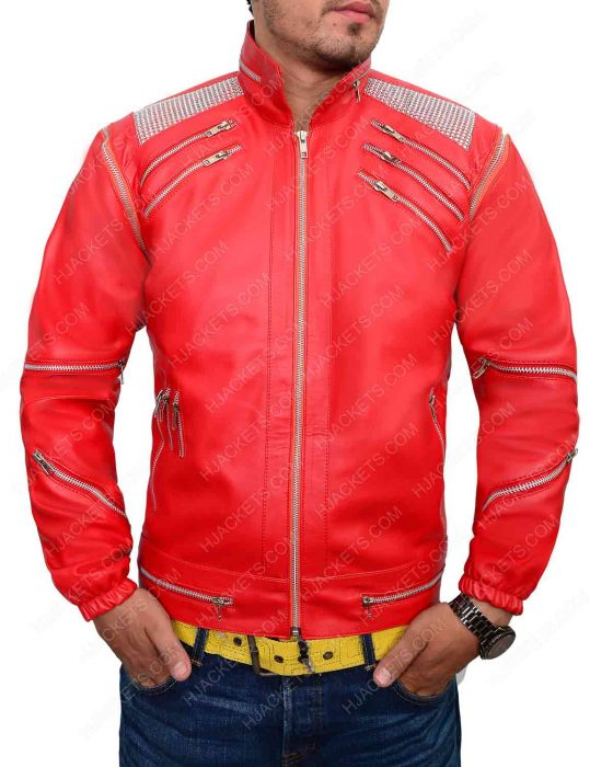 michael jackson in red jacket
