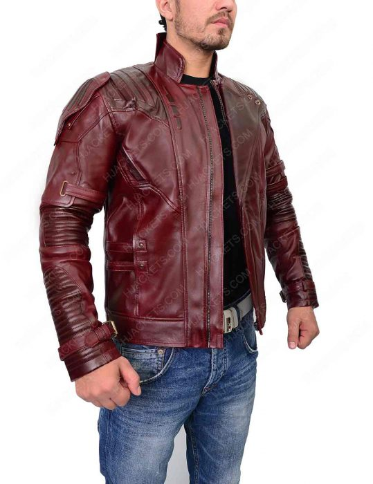 star lord infinity war leather jacket