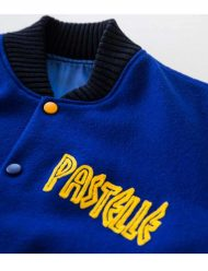 pastelle letterman jacket