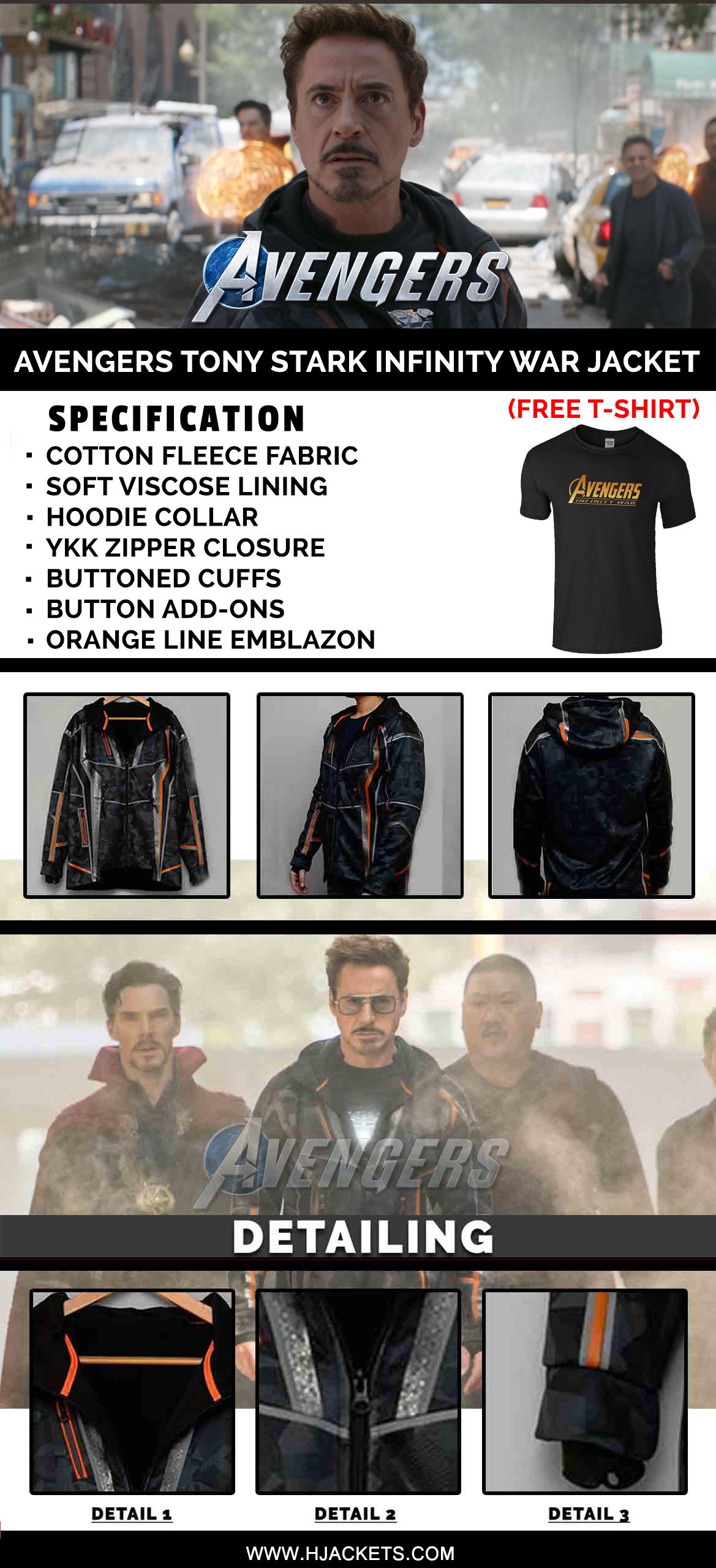 iron-man tony stark jacket infographic