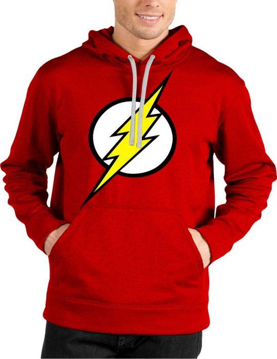 flash logo red hoodie