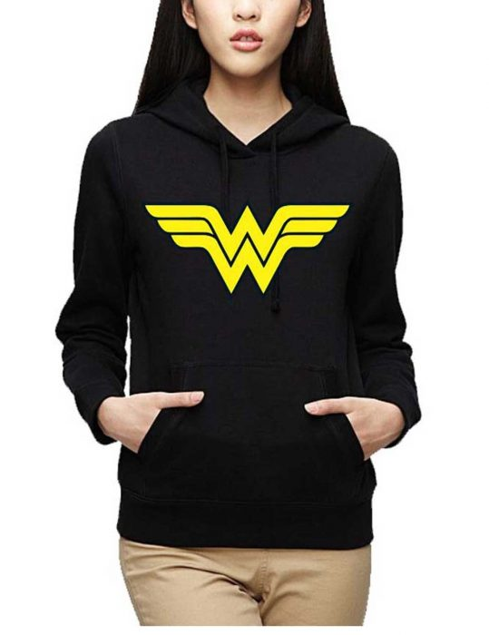 wonder woman logo classic style hoodie