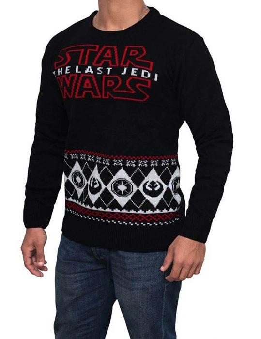 star wars the last jedi black sweater