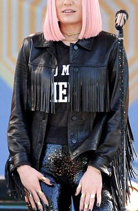 jessie j fringe jacket