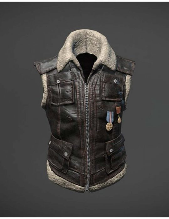 pubg sleeveless leather jacket