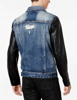 denim leather jacket mens